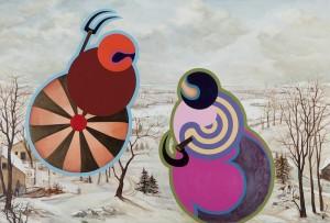Linas Liandzbergis ''Iš kartos į kartą'' 2011 akrilas,drobė  135x200cm - Copy