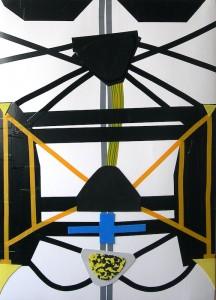 3.Kosmine operacija II.  Popierius, mišri technikaOperation Space Surgery II. 2012. Paper, mix technique, 100x70 cm