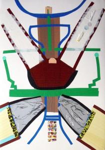 4.Kosminė operacija. Operation Space Surgery. Popierius, mišri technika. Paper, mix technique, 100x70 cm 2012