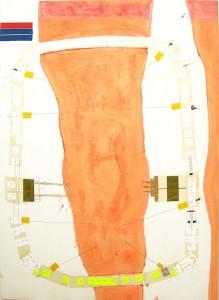 6.Kosminis kūnas.  Popierius, mišri technika. A Cosmo Body. 2011. Paper, mix technique, 80x55 cm