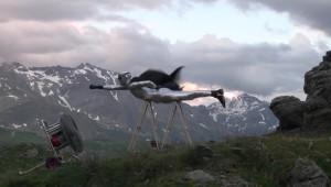 zagorskas-artist flying in increadeble speed vodeo performance in Italy