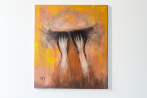 1. BLINDNESS, Majd Kara, oil on canvas, 2016-2